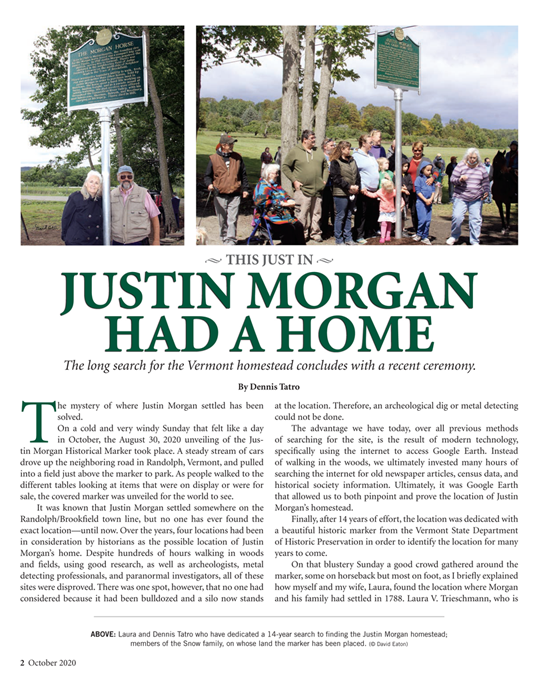 Justin Morgan had a home